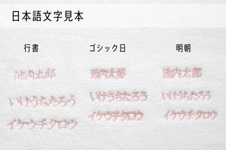 日本語文字見本